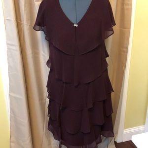 Burgundy dress by SL Fashions NWT